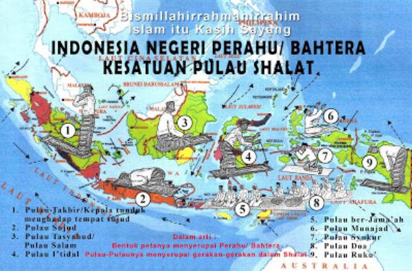 Subhanallah! Tenyata Pulau-pulau Indonesia, Menyerupai Gerakan Sholat