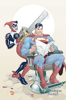 Harley Quinn cuttin Supermans hair