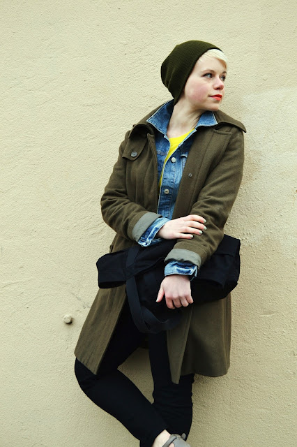 winter fashion, seattle, street style, denim jacket, fleur d'elise
