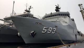 kapal perang untuk mengevakuasi korban kabut asap