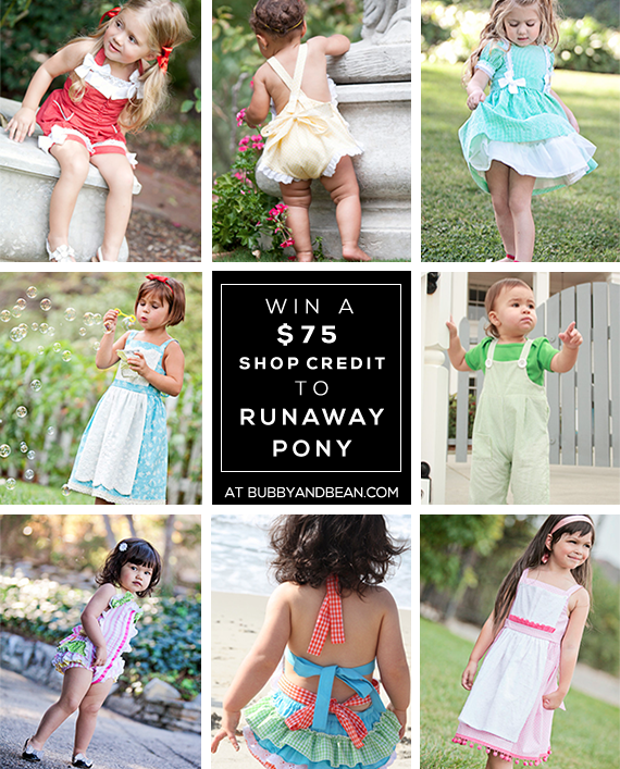 GIVEAWAY // Win a $75 Shop Credit to Runaway Pony at Bubby & Bean!