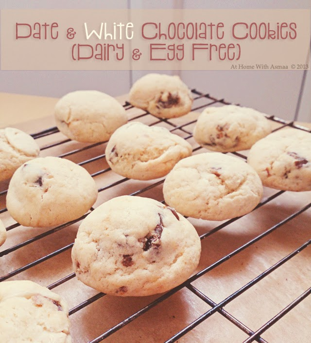 date white chocolate cookies recipe | Halal Home Cooking