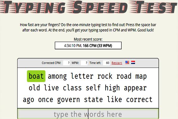 موقع لاختبار مدى سرعة كتابتك على الكيبورد بطريقة ممتعة