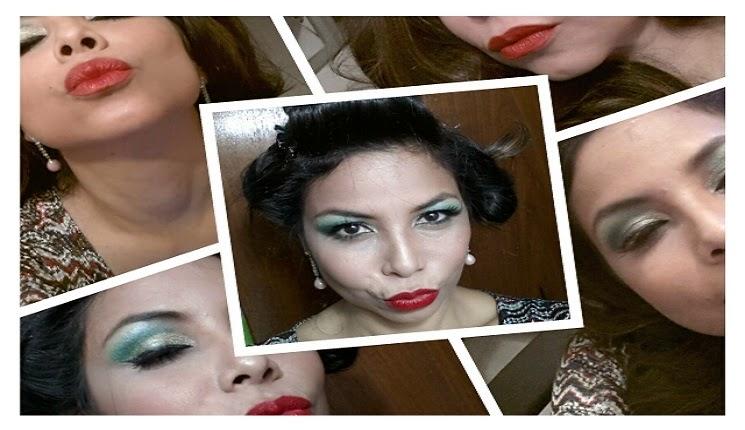 maquillaje color verde