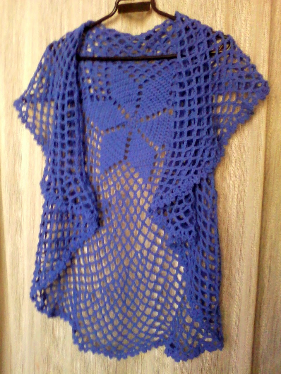 Chaleco circular tejido a crochet