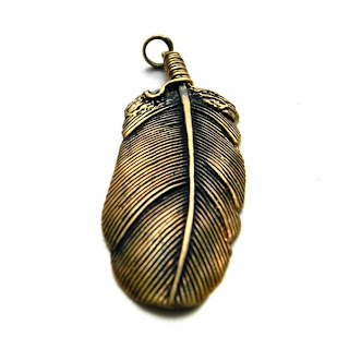 купить кулон перо подвеску индейские украшения из бронзы украина