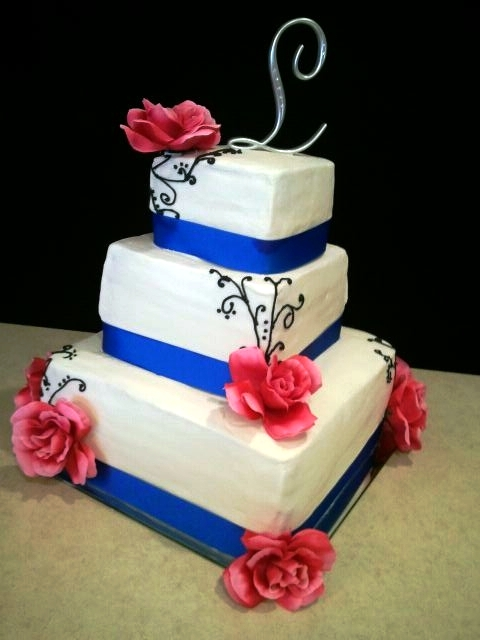 Pink And Blue Wedding Cake Lovely Cakes Season Means
