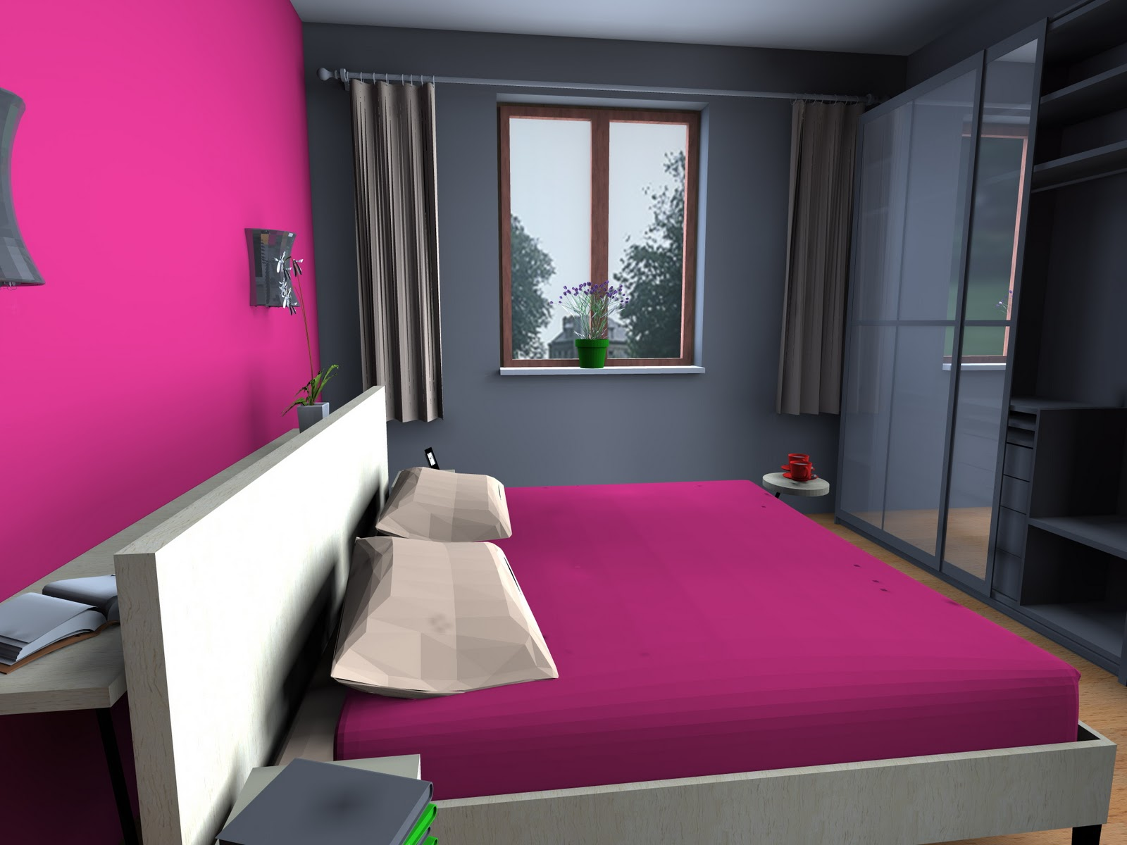 pareti color grigio: soggiorni e pareti attrezzate vedo e arredo ... - Pareti Colorate Camera Da Letto