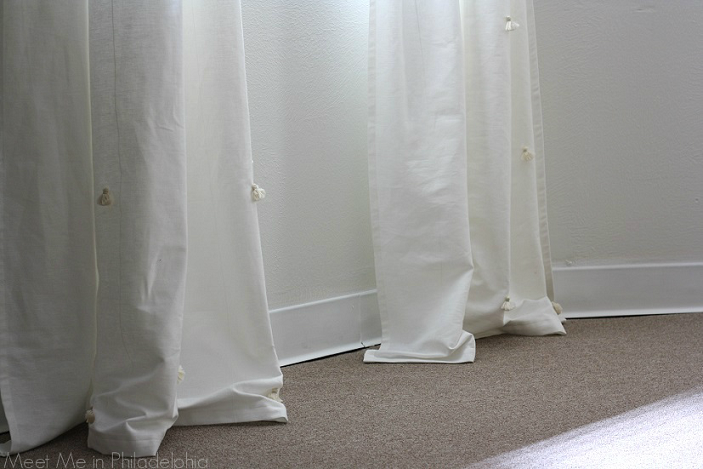 DIY tasseled curtain panels via Meet Me in Philadelphia
