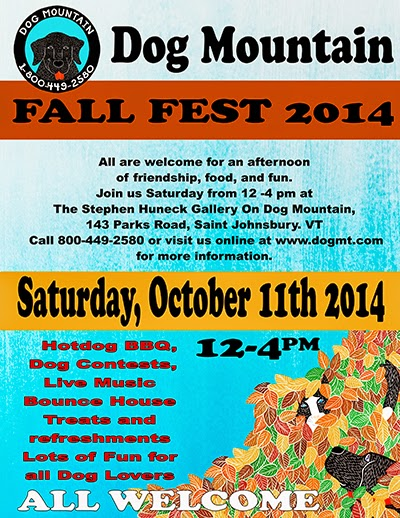 New England Fall Events - Dog Mountain VT Fall Party Poster