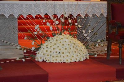 Centro flores para boda en María Auxiliadora de Zamora