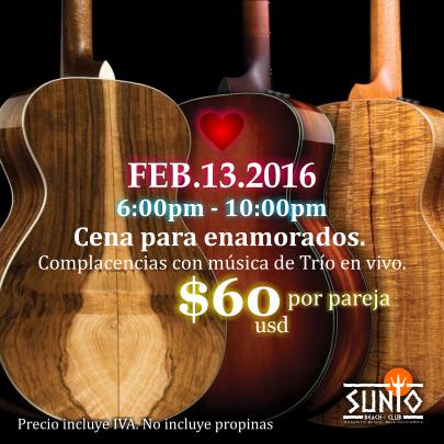 Celebra a los enamorados en Sunio
