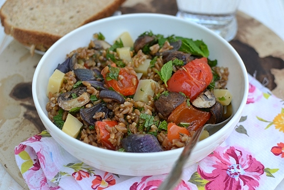 Farro Salad with Roasted Veggies