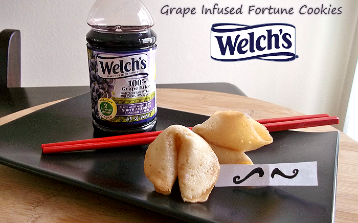 Grape Infused Fortune Cookies