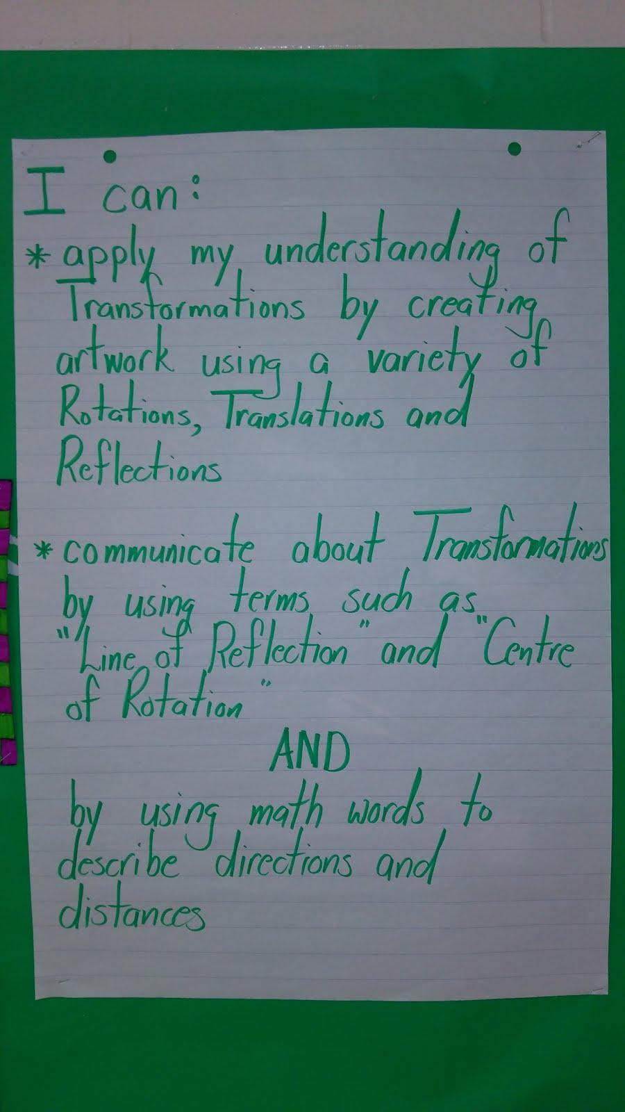 my reflection to my teacher