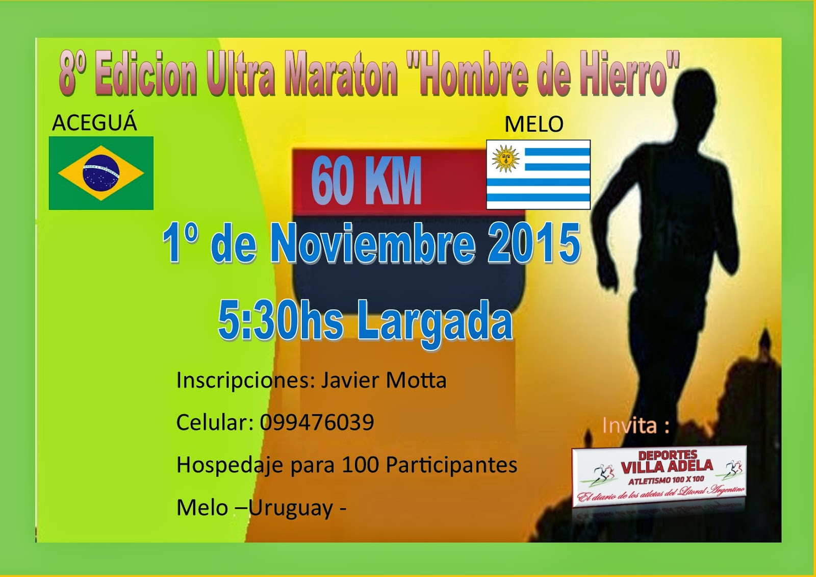Ultra Maraton 60km Aceguá (Brasil) a (Melo Uruguay)