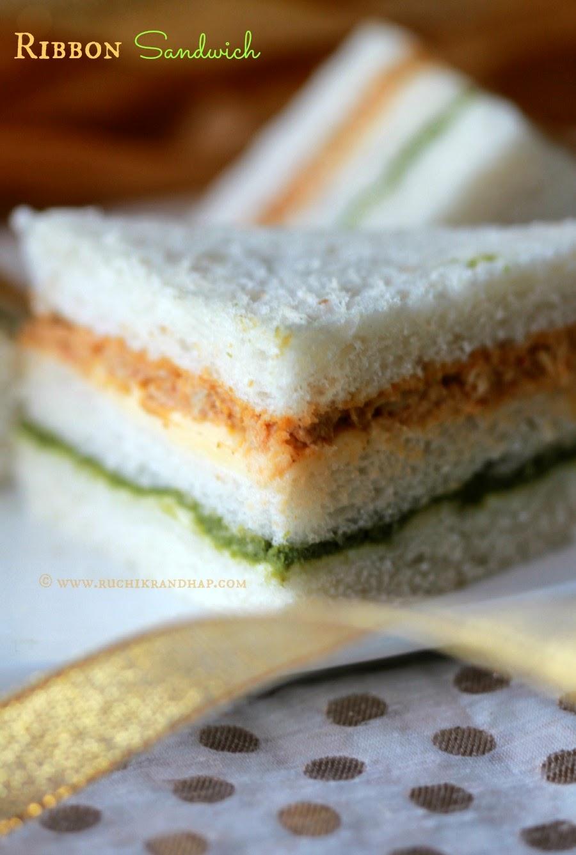 ribbon sandwich | tri coloured sandwich | indian republic day special