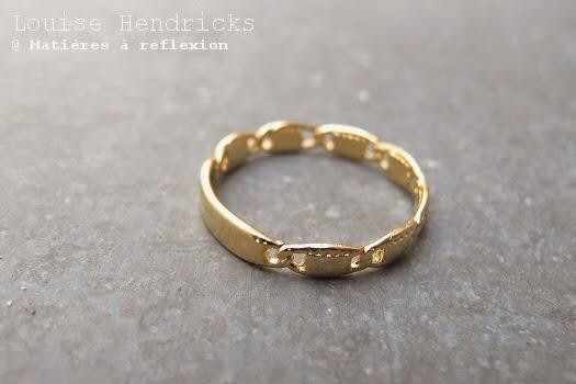 Bague doré Louise Hendricks vintage
