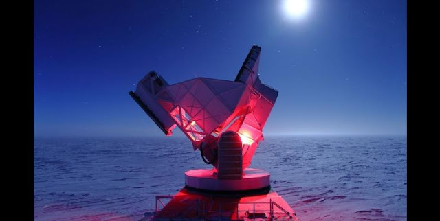 The South Pole Telescope has detected the first B-mode polarization signal in the cosmic microwave background. DANIEL LUONG-VAN, NSF
