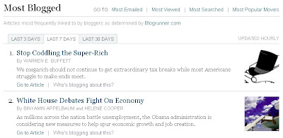 NYT Most Blogged Articles