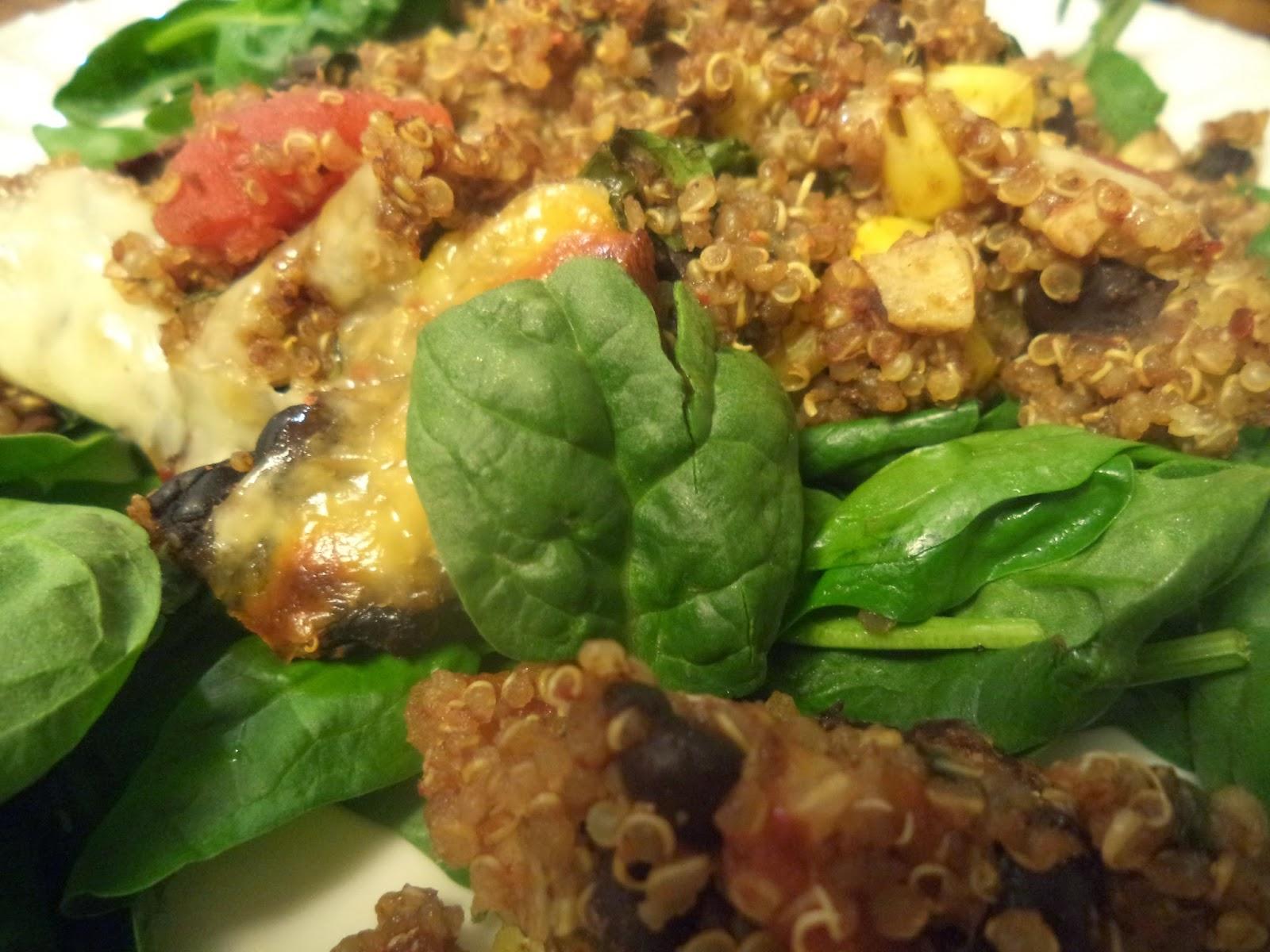 ... : Black Bean Spinach Quinoa Bake (+ Pico de Gallo & Homemade Chips