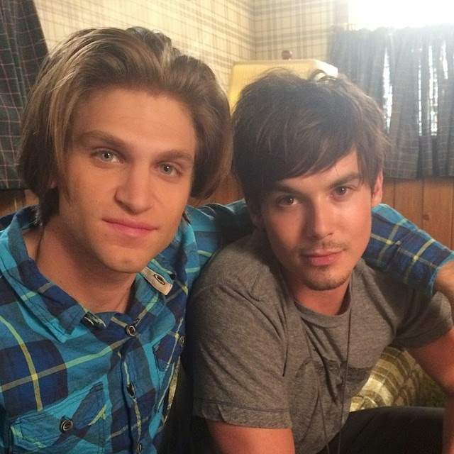 #TBT to that time fetus Keegan Allen and Tyler Blackburn brought their strong hair game.