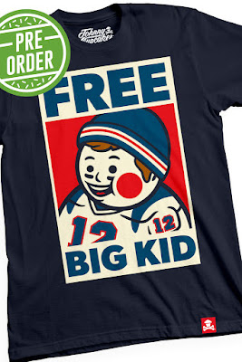 "Johnny Cupcakes x New England Patriots' Tom Brady ""Free Big Kid"" T-Shirt"