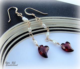 garnet heart jewelry