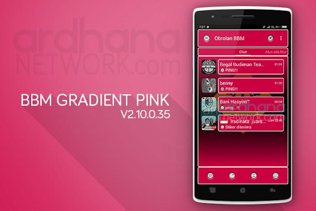 BBM Gradient Pink - BBM Android V2.10.0.35