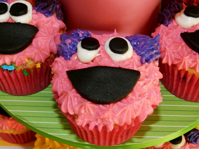 Sesame Street Twins Birthday: Abby Cadabby Cupcakes