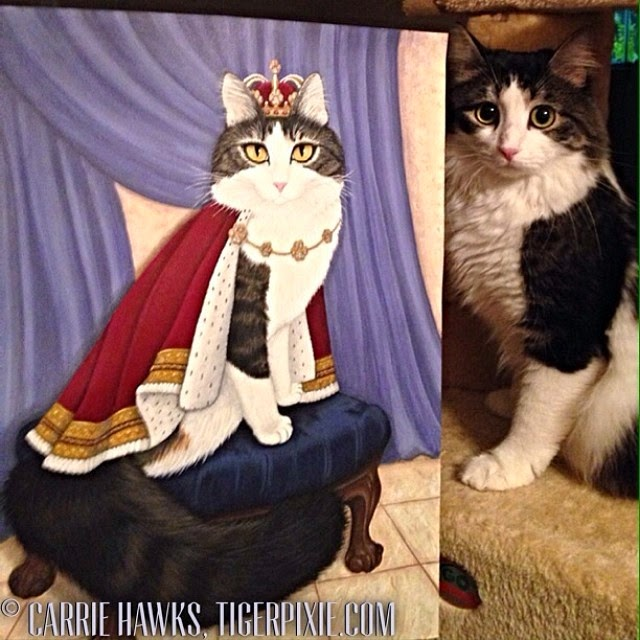 Prince Anakin The Two Legged Cat by Carrie Hawks, Tigerpixie.com