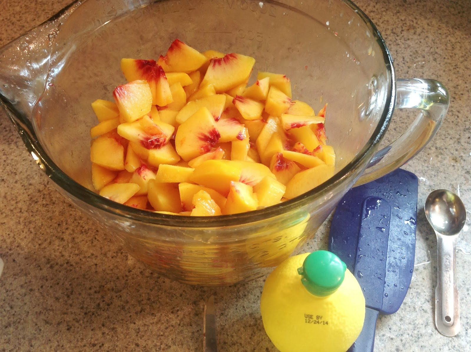 how to make freezer peach pie filling
