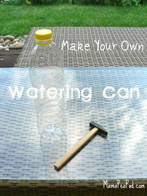 Tools and materials needed to make your own watering can