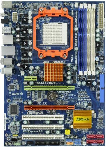 Asrock M3A770DE - AMD AM3 Motherboard