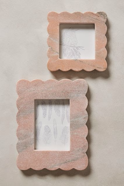 scalloped marble frames on sale anthropologie