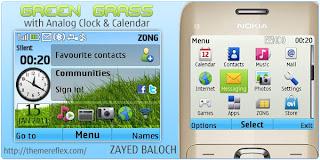 GreenGrass C3 by ZB Download Tema Nokia C3 Gratis