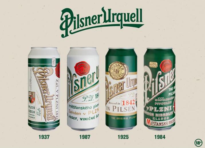 Pilsner Urquell latas vintage