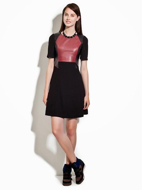 volanlı siyah elbise
