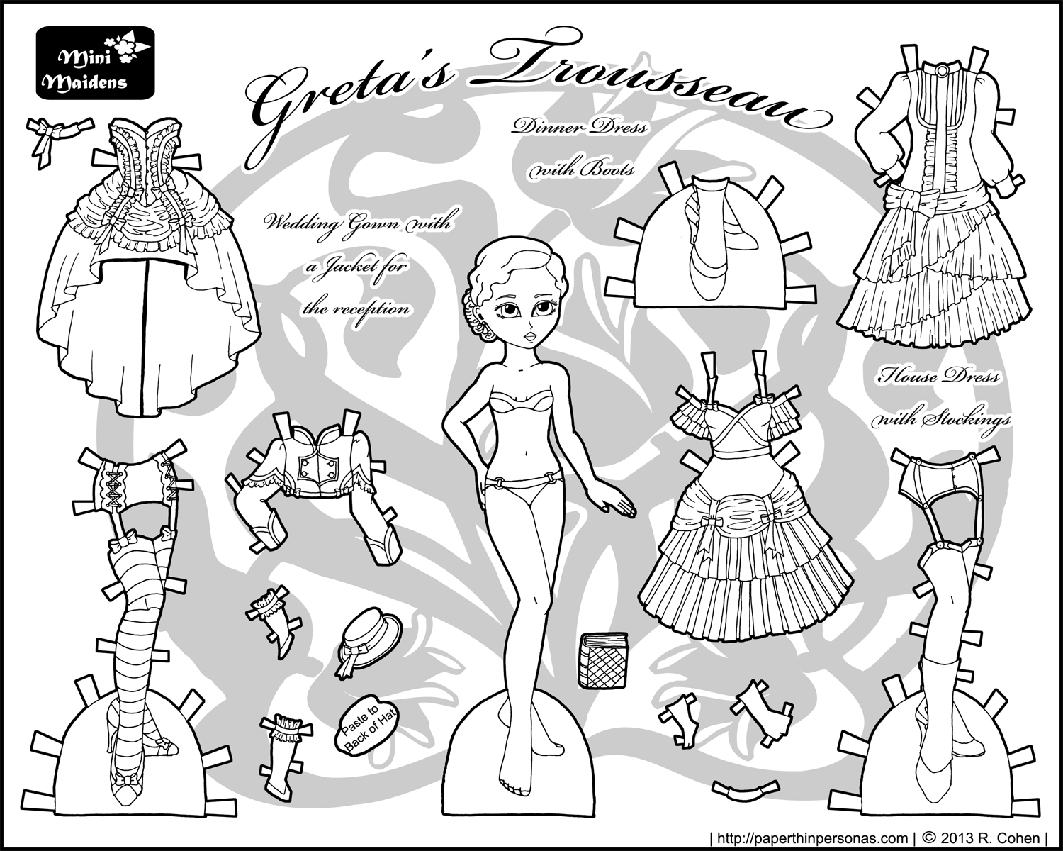 It is a picture of Satisfactory Paper Dolls Printable