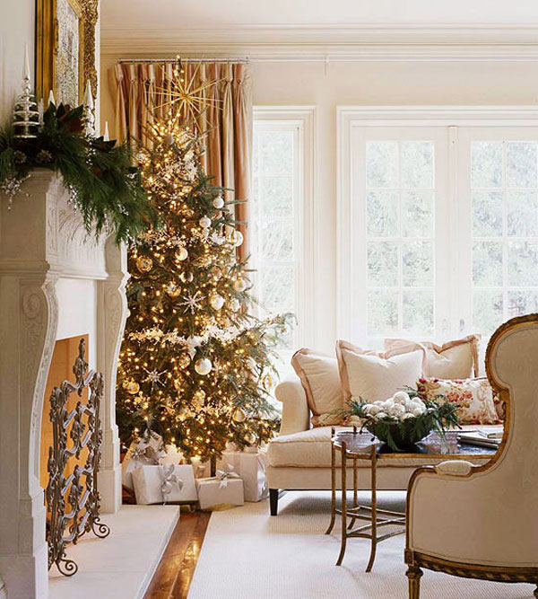 Home decoration design christmas decorations ideas for Xmas living room ideas
