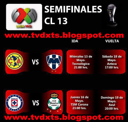 EN VIVO SEMIFINALES LIGA MX CLAUSURA 2013