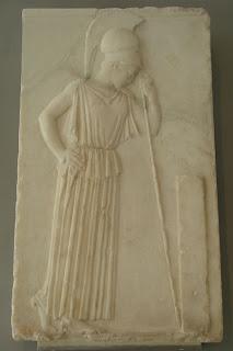 Atenea Pensativa. Escultura griega en el periodo clasico. Grecia. Escultores griegos. Escultura griega clasica