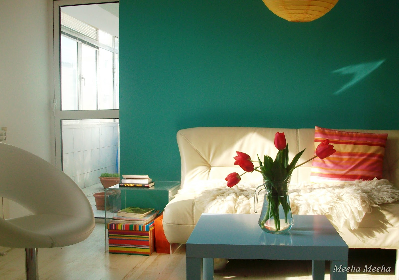 Meeha Meeha Before And After Turquoise Living Room