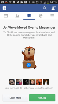 Facebook is forcing all mobile Facebook app users to switch to Facebook Messenger.