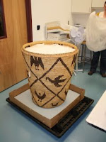 conservation studio, lab, Native American basket, Tohono basket, museum collection care