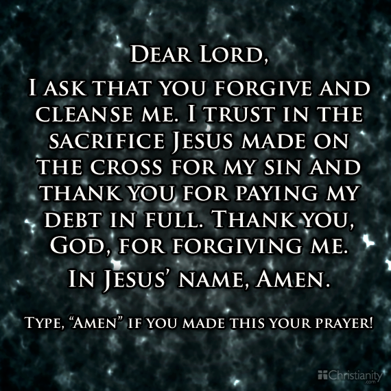 how to make god forgive you for your sins pray