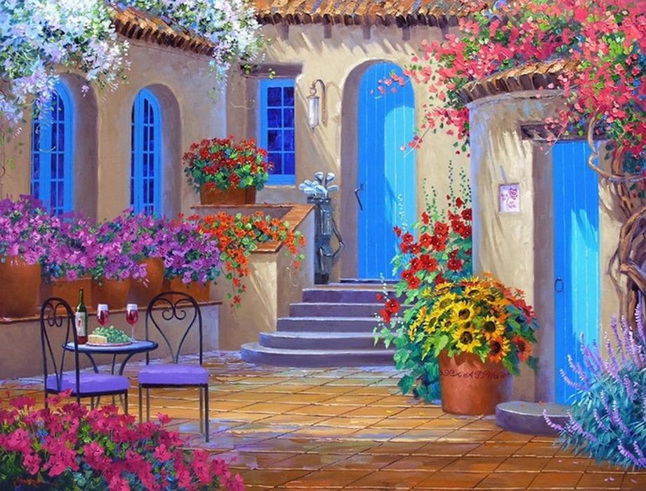 Pintura moderna y fotograf a art stica pinturas t picas for Pintura moderna de la casa