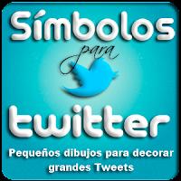 Símbolos para Twitter