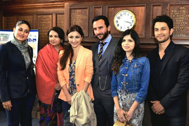 Kareena Kapoor and Saif Ali khan with family members