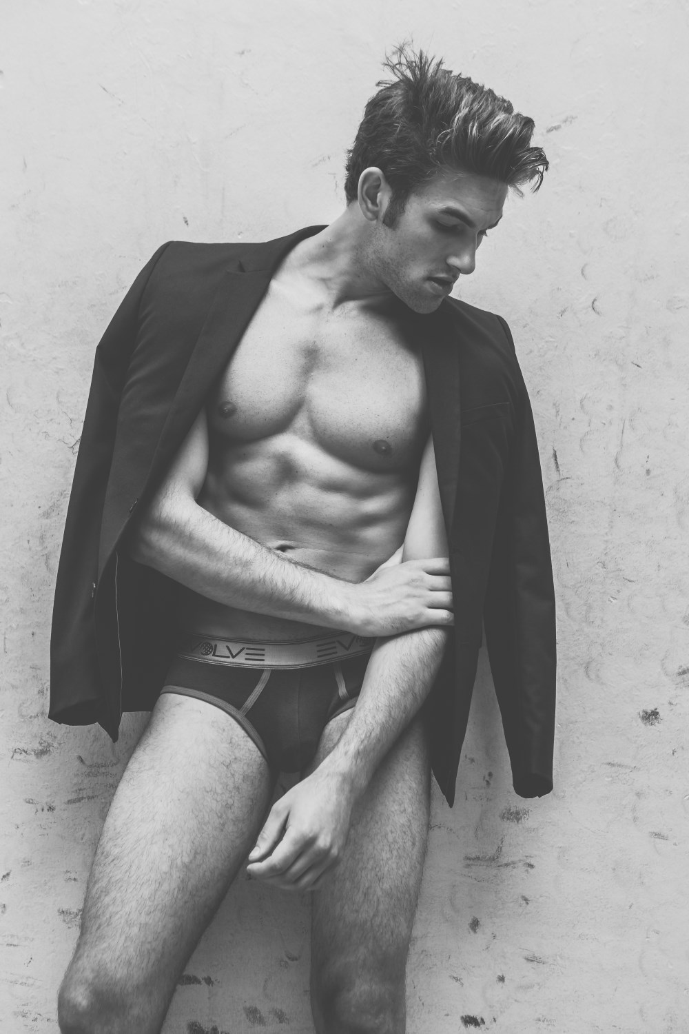 Picture About Male Model  Nick Davis by Jake Senfeld in Black and White
